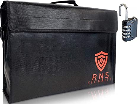 Fireproof document Bags-Large Fire Proof Lock Box-Portable Safe-Locking Documents Bag Organizer Waterproof Money Holder 17.5x12x5 Heat Retardant Water Explosion Resistant Cash Boxes Lipo Pouch LockBox - - Amazon.com