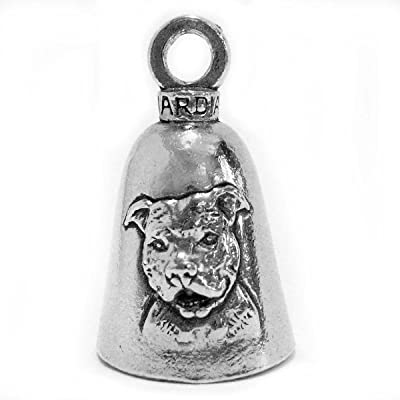 Guardian American Pit Bull Terrier Dog Motorcycle Biker Luck Gremlin Riding Bell or Key Ring (1): Automotive