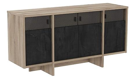 Miroytengo Mueble aparador Sagel Salon 4 Puertas Estilo ...