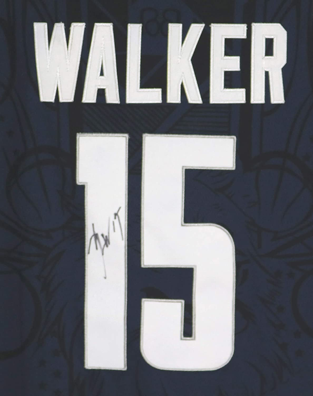 55c002896882 Kemba Walker University of Connecticut UCONN Huskies Signed Autographed  Dark Blue  15 Jersey at Amazon s Sports Collectibles Store