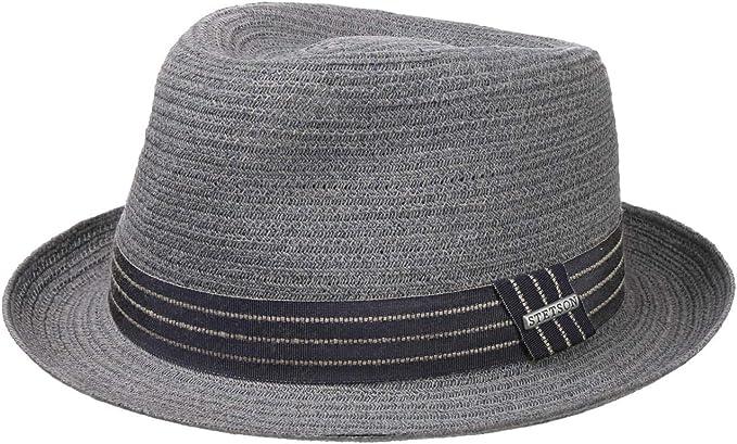 Stetson Cappello di Paglia Carson Fedora Uomo - Cappelli da Spiaggia Sole  con Nastro in Grosgrain Primavera/Estate: Amazon.it: Abbigliamento