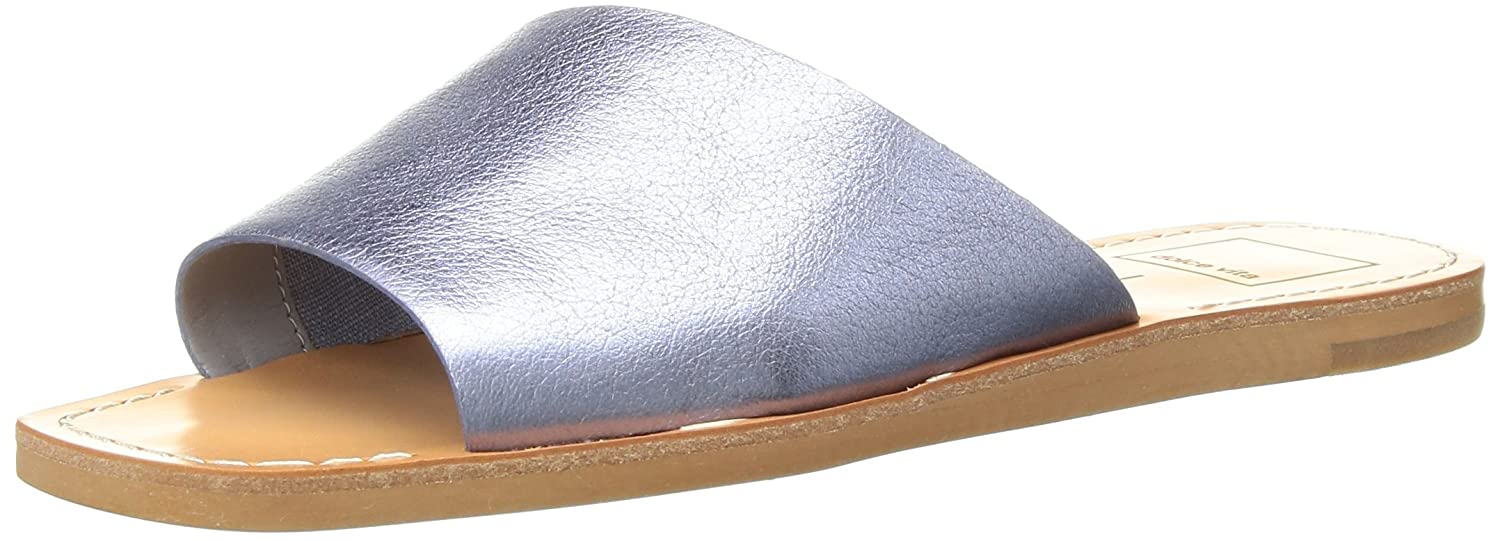 Dolce Vita Women's Cato Slide Sandal B078BR8FRL 8.5 M US|Metallic/Blue Leather