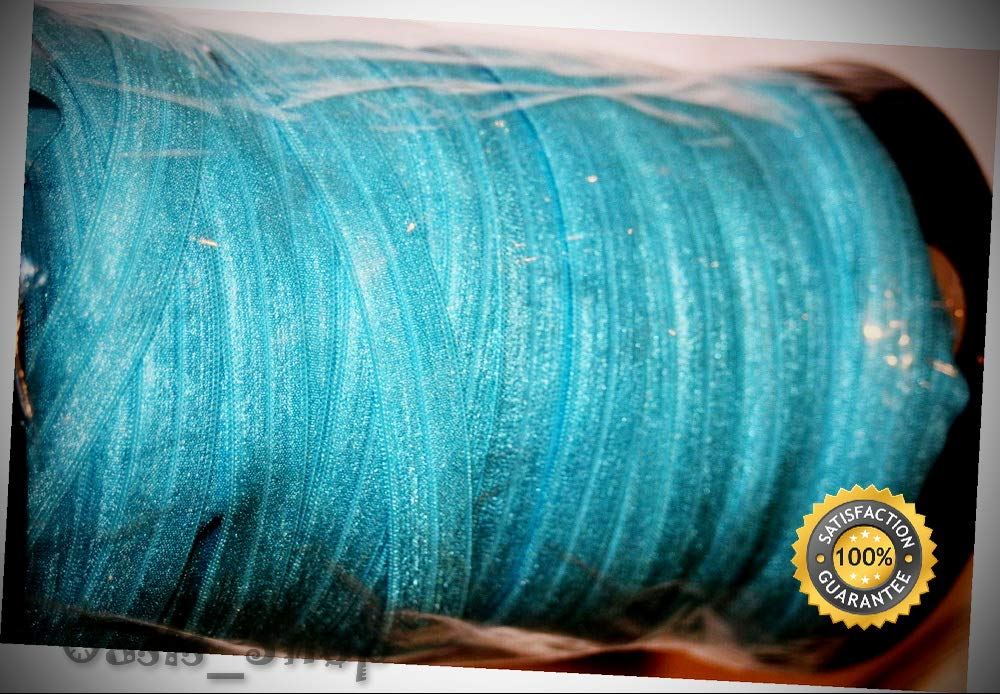 Lot 200 Yard roll Light Turquoise FOE Foldover Elastic Sewing Stretch 5/8'' Wide - Ribbon Lyrical Dance Costumes, Sashes, Headbands by Oasis_Shop