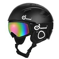 Casque de ski avec lunettes de ski, casque et lunettes de sport unisex pour les neiges pour hommes et femmes, antidérapant et universel, casque protecteur et lunettes protectrices pour le patinage de ski