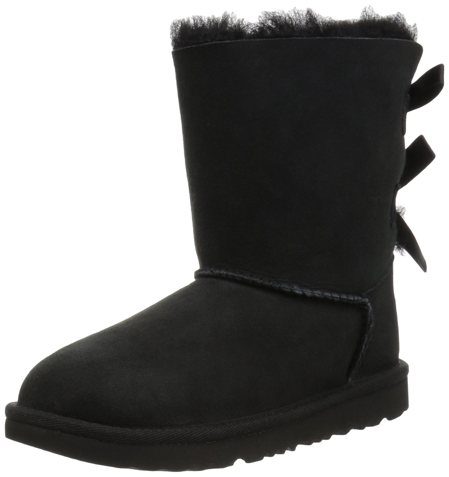 UGG Girls K Bailey Bow II Fashion Boot, Black, 1 M US Little Kid