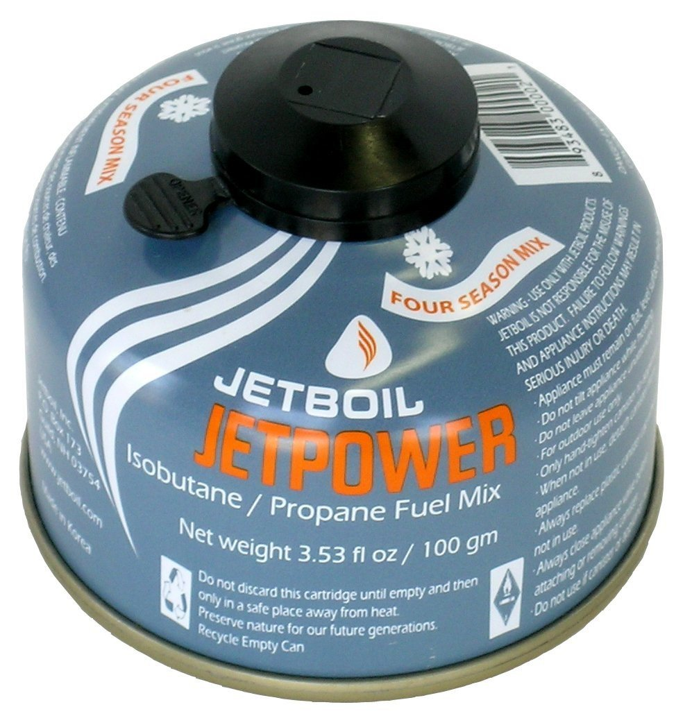 Jet Boil Jet Power Fuel Gas Cartridge 450 G, Grey, One Size, Jetpwr 450 – European Union Jetboil JETPWR-450-EU
