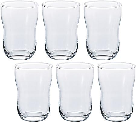 アデリアタンブラーグラスクリア185mlデッセル(旧つよい子グラス)6オンス6個セット日本製口部強化B6787