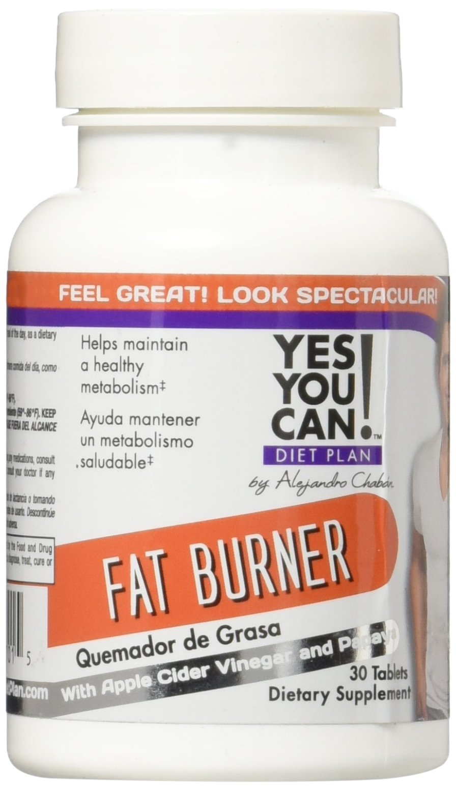YES YOU CAN DIET PLAN - Fat Burner Weight Loss Supplement with Apple Cider Vinegar,
