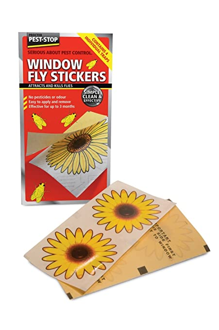 Leading edge window fly stickers pack of 4 with safety guide prcpswfsi10