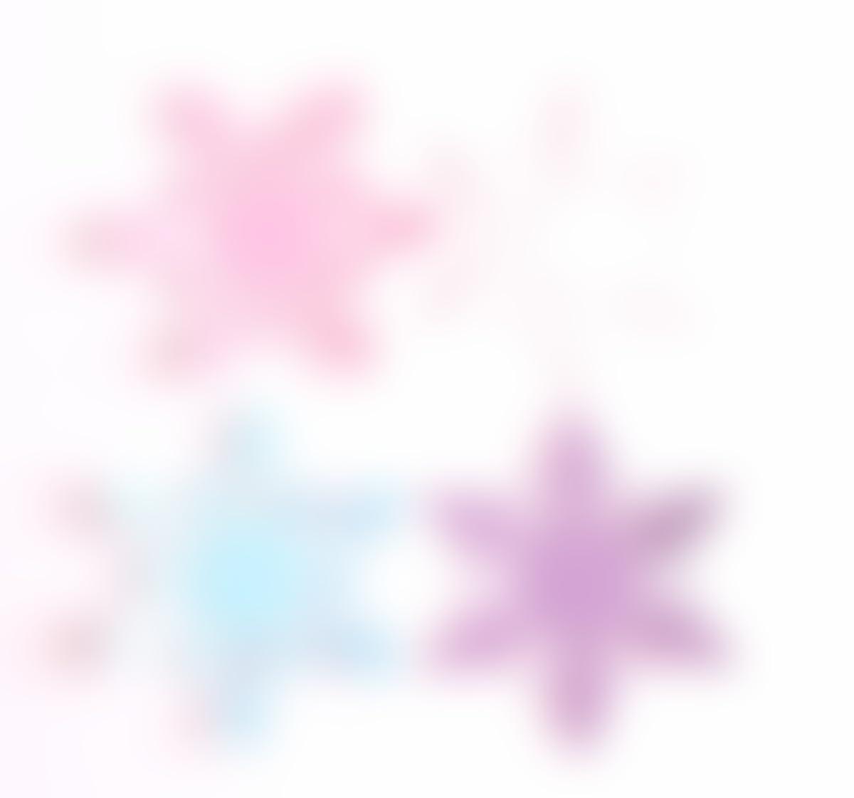 amazon com snowflake confetti in pink purple blue u0026 white