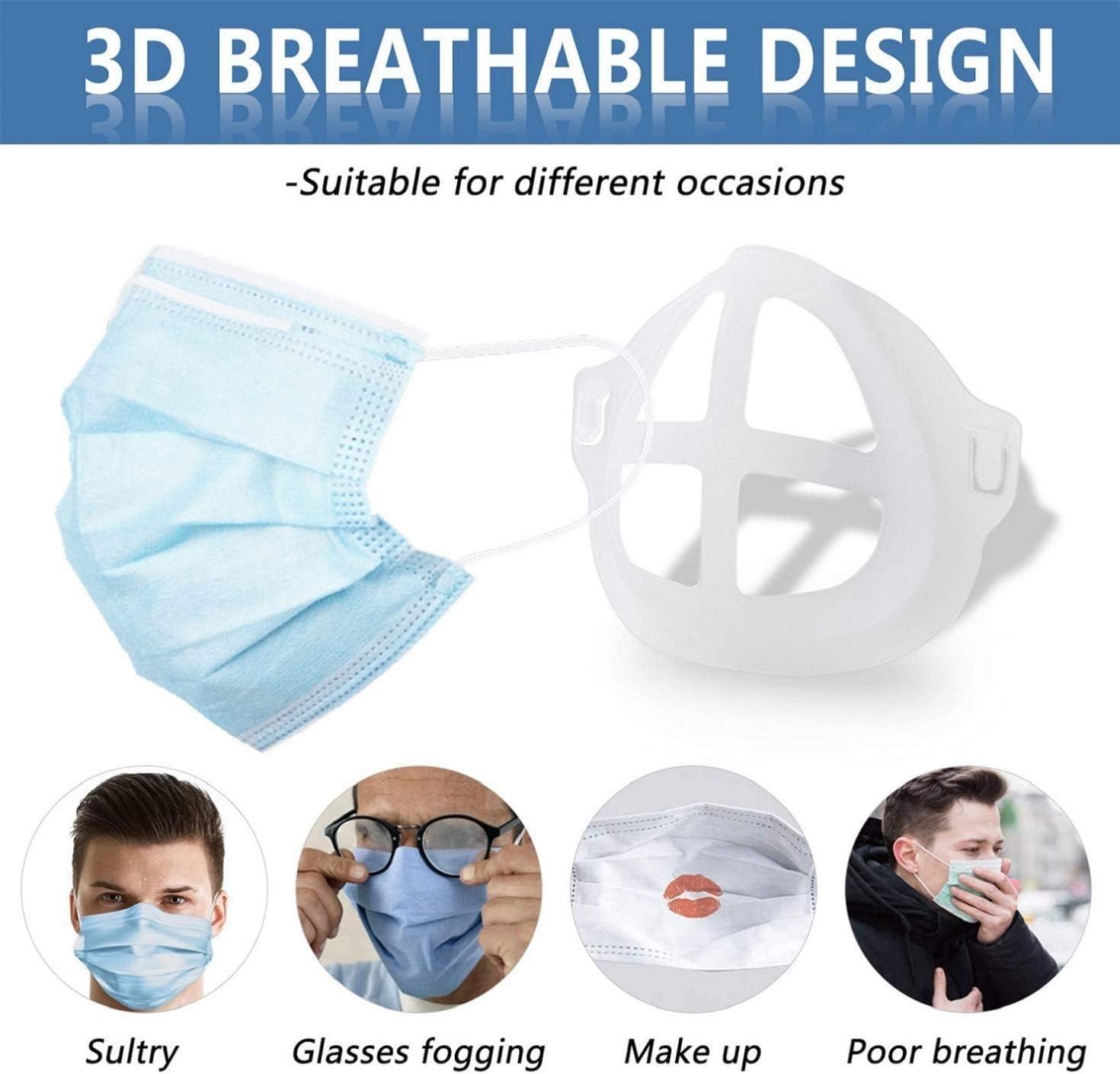 10 x 3D Breathing Bracket Strap Extender Supporto per la Protezione del Trucco del Rossetto Riutilizzabile Telaio di supporto Aumenta lo spazio per il respiro