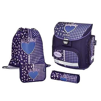 589bc9b9fcc21 Herlitz School Bag Midi Plus Black Diamond Set of 4 Pieces Heart Tornister  School Bag Schoolbag  Amazon.co.uk  Garden   Outdoors