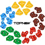 TOPNEW 25 Rock Climbing Holds for Kids and Adults, Large Rock Wall Grips for Indoor and Outdoor Play Set - Build Rock…