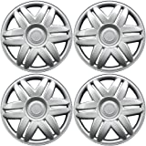 Hub-Caps for Select Toyota Camry (Pack of 4) 15 Inch Silver Wheel Covers