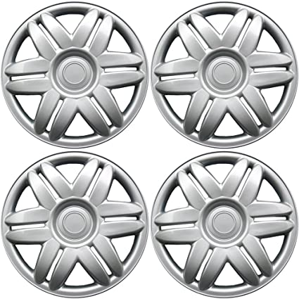 Amazon.com: OxGord Hub-caps for 88-01 Toyota Camry (Pack of 4) Wheel Covers 15 inch Snap On Silver: Automotive