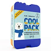 [NEW] Ice Packs for Lunch Box - Freezer Packs - Original Cool Pack | Slim & Long-Lasting Ice Pack for your Lunch or Cooler Bag (Set of 4)