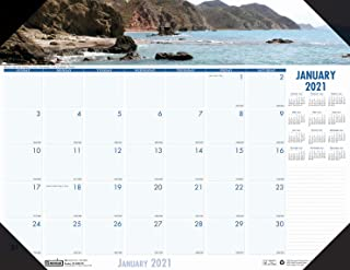 product image for House of Doolittle 2021 Monthly Desk Pad Calendar, Earthscapes Coastlines, 22 x 17 Inches, January - December (HOD178-21)