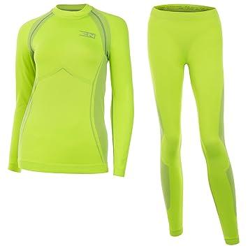 Energytech - Juego de ropa interior para mujer, funcional y térmica, para esquiar y