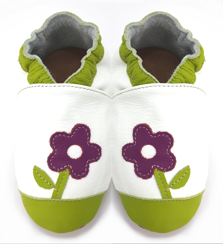 6bcc48fda3244 Meli Melo bio - Chaussons cuir souple Petite Violette