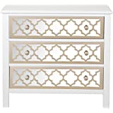 """Pulaski DS-A259-850 Accent Drawer Chest with Mirrored Drawer Fronts, 34.0"""" x 15.0"""" x 30.0"""", White"""