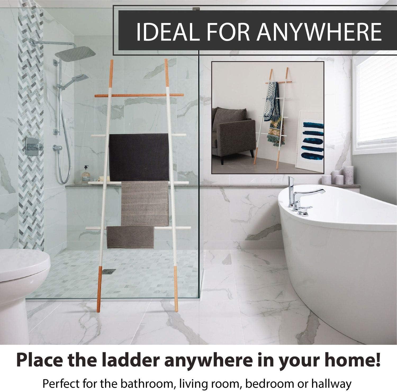 Manta decorativa escalera para salón, dormitorio, baño, color blanco: Amazon.es: Hogar