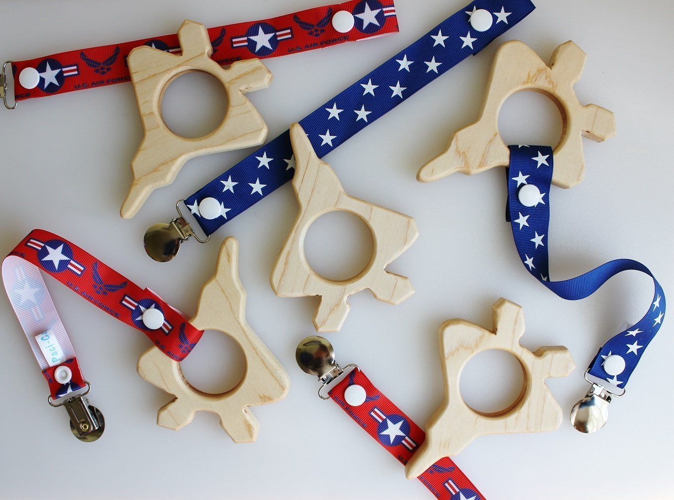 Fighter Jet Wooden Teethers
