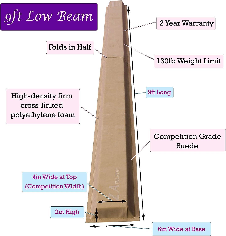 Z Athletic Gymnastics Folding Training Low Beam for Gymnastics Tumbling
