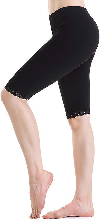 c961ea80e9b773 Leggings Longueur Genou Femme Short sous Jupe Pantalon de Sport élastique  légers