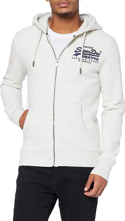 TALLA S. Superdry VL Emboss Ziphood suéter para Hombre