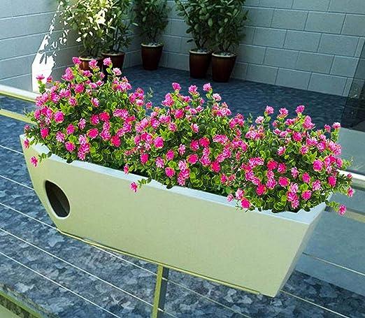 Rose HZAMING 4 PCS Faux Fleurs Artificielles Eucalyptus Plantes Artificielles Arbustes De Verdure Artificielle Fleurs en Plastique Maison Bureau Jardin Terrasse Cour Ext/érieur /À Lext/érieur