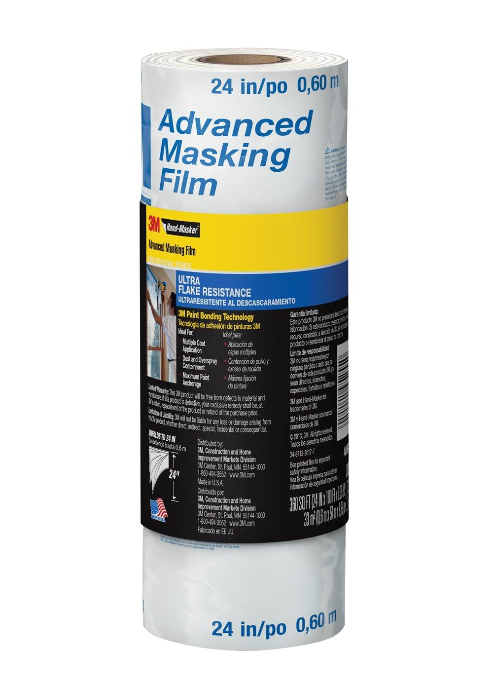 3M AMF24 Hand-Masker Advanced Masking Film, 24-Inch x 180-Feet
