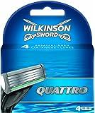 Wilkinson Sword Quattro - Cuchillas de afeitar (4 unidades)