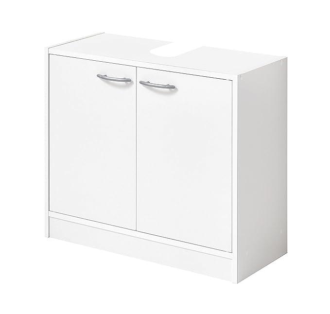 FMD Möbel Bristol A6 Mueble bajo Lavabo, 63,7 X 28,1 X 55 H CM, Blanco, Aglomerado: Amazon.es: Hogar