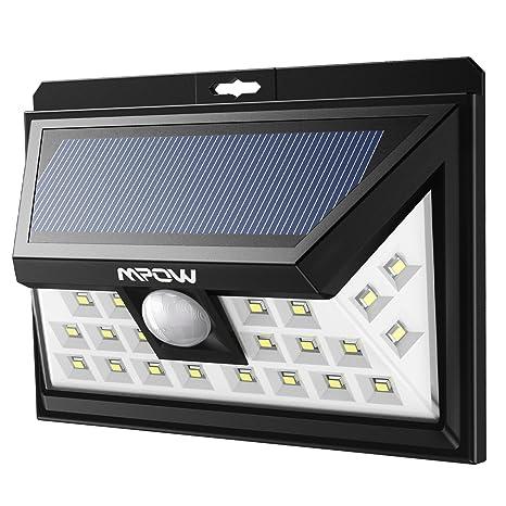 SécuritéEclairage Mpow Solaire Détecteur De Angle 24 Ip65 Led Lampe Modes Etanche Mouvement Intelligents Grand Eclairages Extérieur 3 KlFT135uJc