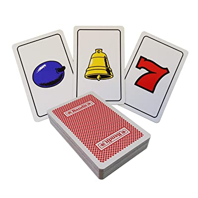 Elverson Puzzle Casino Slot Machine Card Game with Fruit Symbols for Packet Tricks, Card Magic and More: Toys & Games