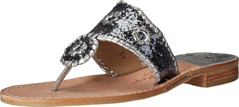 Jack Rogers Women's Cleo Dress Sandal B01JMOIF3S 6.5 B(M) US|Silver/Silver