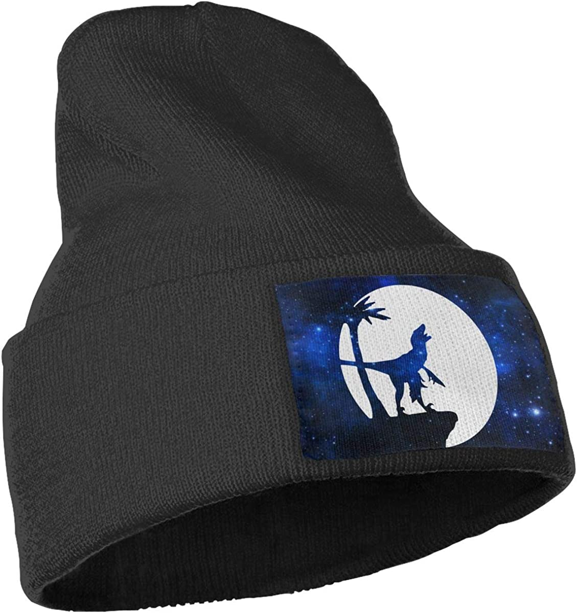 COLLJL-8 Unisex Raptor Moon Outdoor Warm Knit Beanies Hat Soft Winter Skull Caps