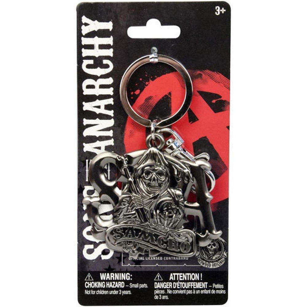 Sons of Anarchy - Llavero Plateado plata: Amazon.es: Equipaje