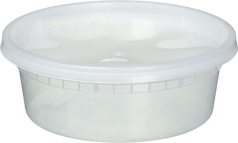 EDI Food Storage Plastic Lids Set, Pack of 25 Deli Containers (25, 8 OZ)