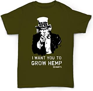 product image for Hemp T Shirt Uncle SAM Green