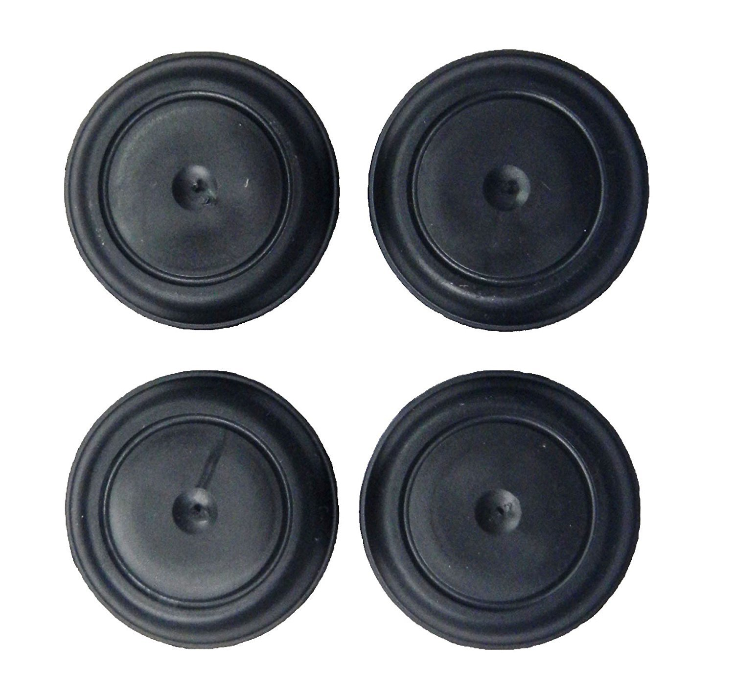 SB Distribution Ltd. (Set of 4) Rubber Body Floor Pan Drain Ergonomic Button Plugs for Jeep Wrangler TJ 1998 to 2006 Models OEM 55177482AA | by SBD