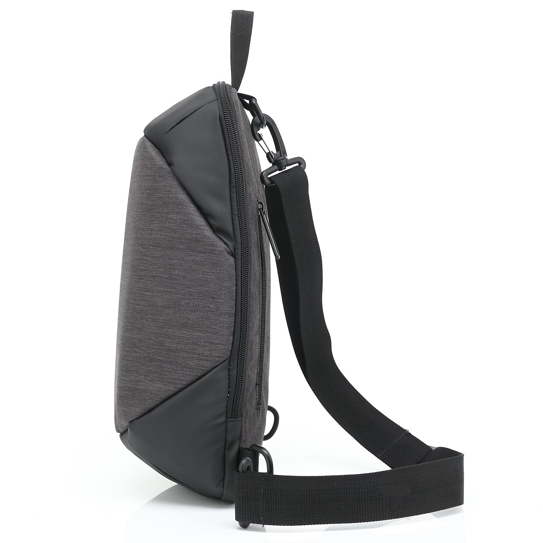 Fresion Beiläufige Brusttasche Herren Damen Unbalance Brustbeutel Wandern Outdoor Sport Crossbody Bag Sling Pack Rucksack 23 x 10 x 36 cm ( Rosa )