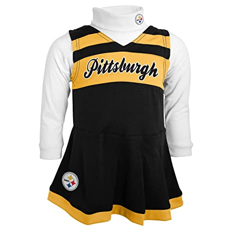 NFL Pittsburgh Steelers Girls Cheer Jumper Dress with Turtleneck Set 3T Black  sc 1 st  Amazon.com & Amazon.com : NFL Pittsburgh Steelers Girls Cheer Jumper Dress with ...