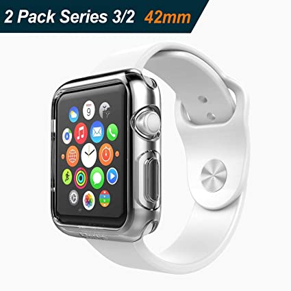 Ivoler - Funda protectora para Apple Watch de 42mm (ultra delgada ,TPU , compatible
