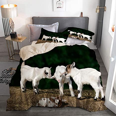 This is goat bedding set | Bed, Goats
