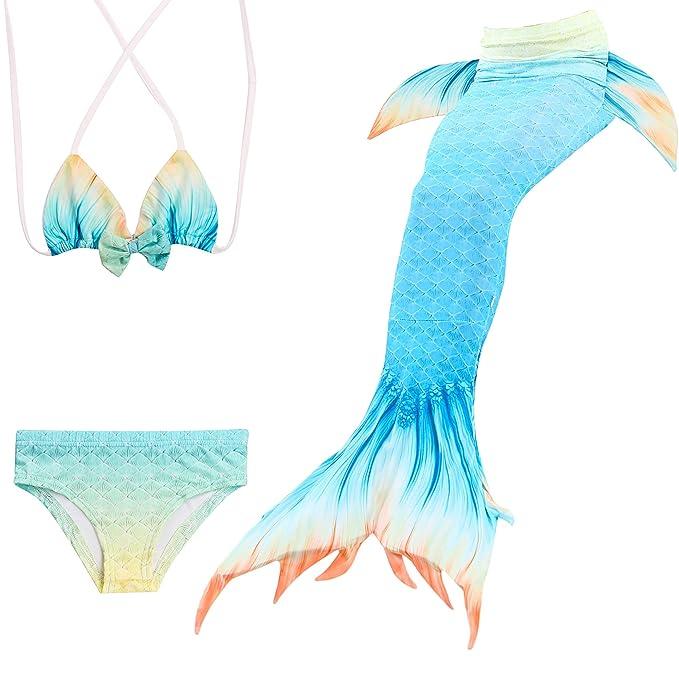 Pettigirl Para Niñas Colas de Sirena Niña para Nadar con ...