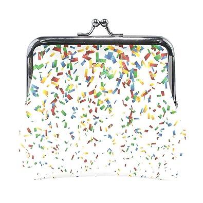 Amazon.com: Confeti - Monedero pequeño con cierre de piel ...