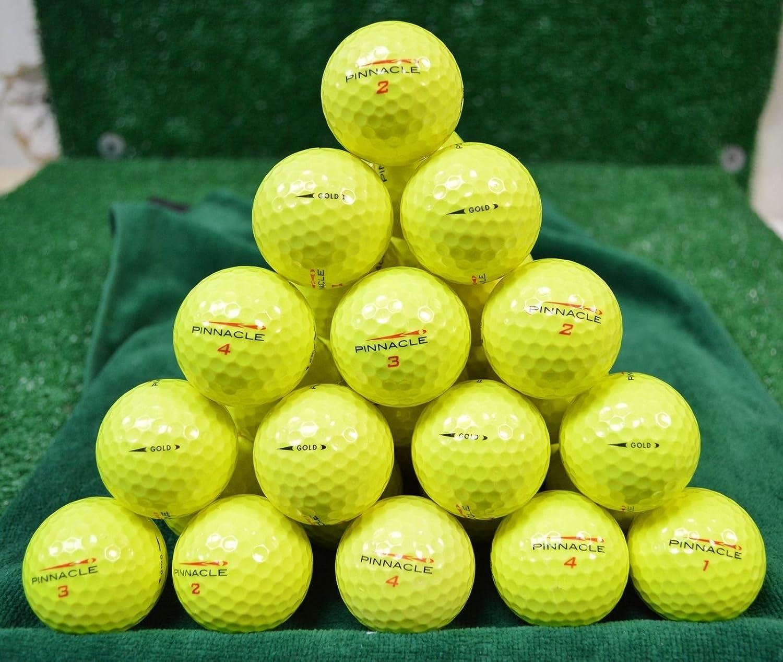 60 Pinnacle Gold Yellow 5A Golf Balls