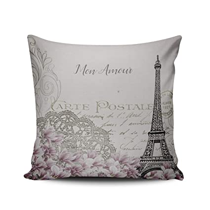 Decoration Carte Postale.Amazon Com Fanaing Mon Amour Carte Postale Pillowcase Home