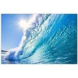 Startonight Canvas Wall Art Ocean Wave Water